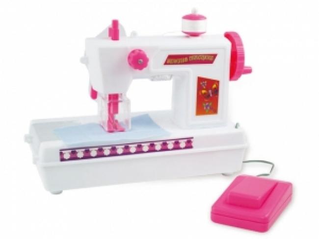 Детская Швейная машинка на батарейках - со светом и звуком, будет отличным подарком для маленькой мастерицы