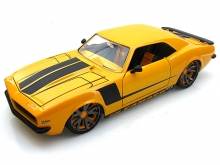 Модель авто 1968 Chevy Camaro Yellow W Balck Stripes